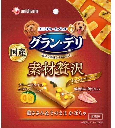 ユニ・チャーム グラン・デリ 素材贅沢 バータイプ 鶏ささみ&そのままかぼちゃ 45g