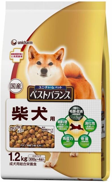 ユニ・チャーム ベストバランス カリカリ仕立て 柴犬用 成犬用 チキン・野菜・小魚・玄米入り 1.2kg