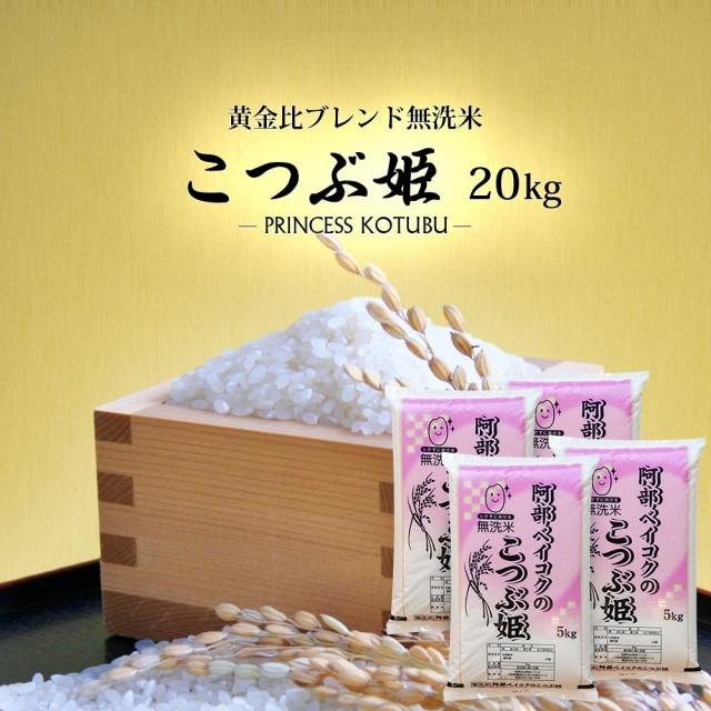 無洗米 20kg (5kg×4) 送料無料 (地域限定) こつぶ姫 安い 20キロ 山形県産 米 お米