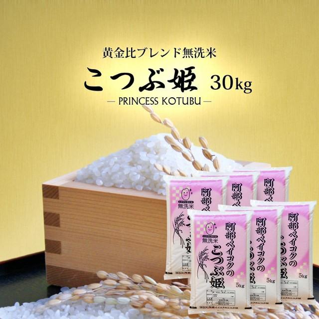 無洗米 30kg (5kg×6) 送料無料 (地域限定) こつぶ姫 安い 30キロ 山形県産 米 お米