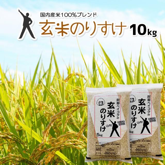 玄米 10kg (5kg×2) 送料無料 (地域限定) 玄米のりすけ 安い 10キロ 山形県産