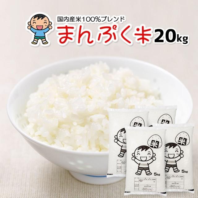 米 お米 20kg (5kg×4) 送料無料 (地域限定) まんぷく米 安い 20キロ 山形県産 白米