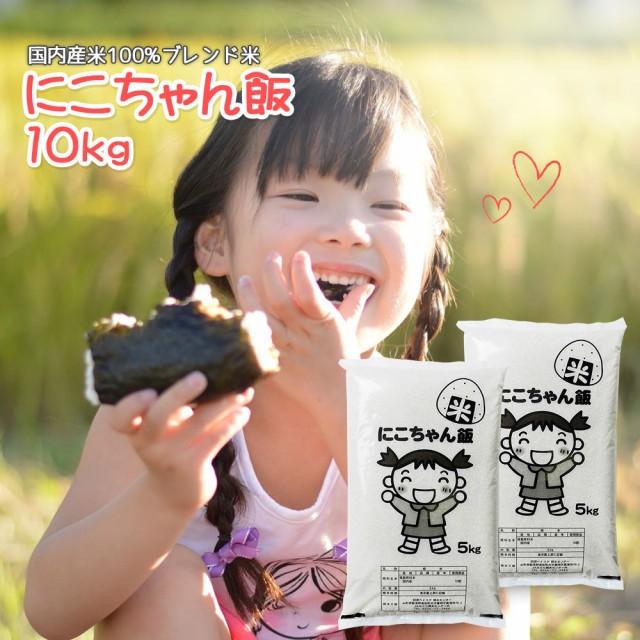 米 お米 10kg (5kg×2) 送料無料 (地域限定) にこちゃん飯 安い 10キロ 山形県産 白米