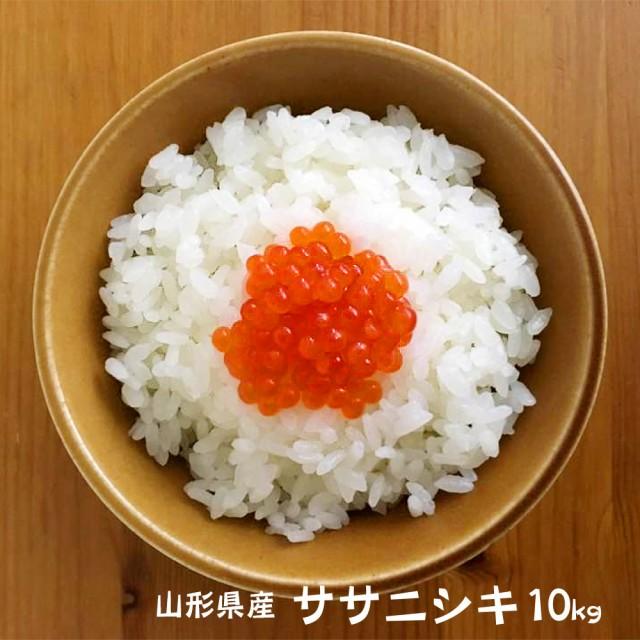 米 お米 ササニシキ 10kg 送料無料 (無洗米 白米 玄米) 令和2年 新米 山形県産 10キロ 産地直送 ギフト ※一部地域は別途送料追加