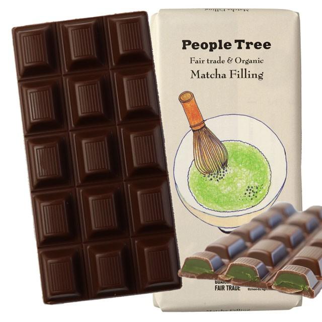 ピープルツリー フェアトレードチョコレート 抹茶フィリング 100g