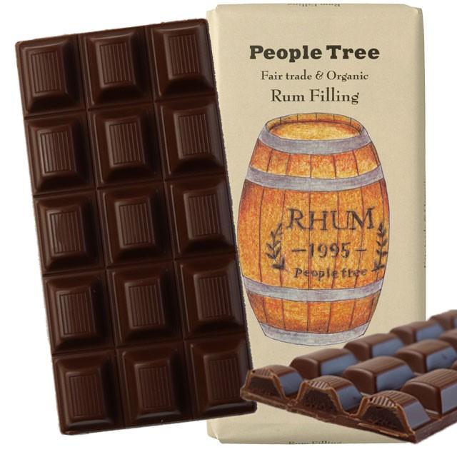 ピープルツリー フェアトレードチョコレート ラムフィリング 100g