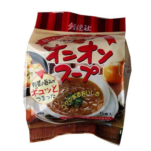 創健社 野菜の旨みがギュッとつまった オニオンスープ〔フリーズドライ製法〕 6g×4食入