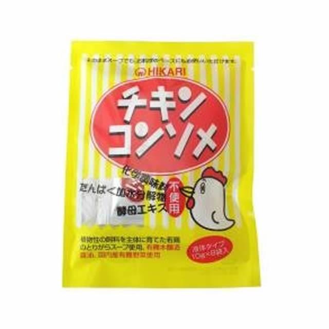 ヒカリ チキンコンソメ・液体タイプ 80g 〔10g×8袋〕