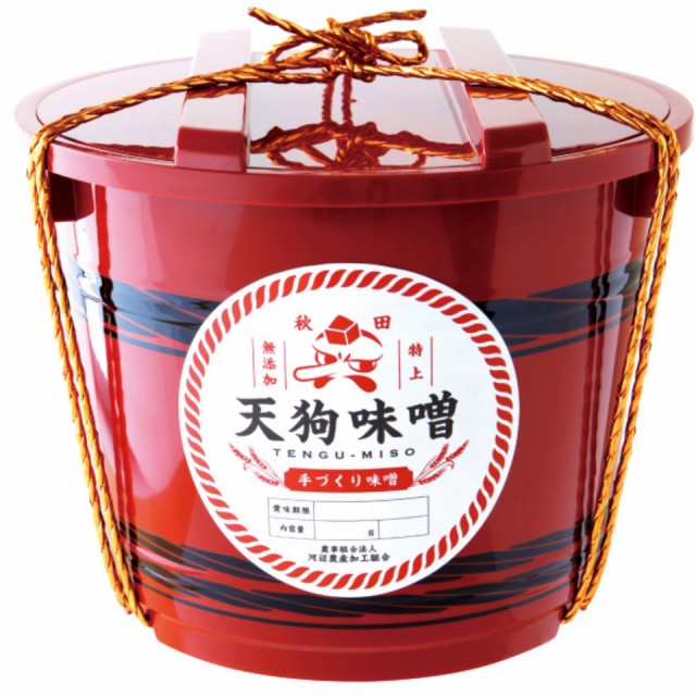 秋田 特上 【天狗味噌】 無添加 赤樽 1ケース 700g