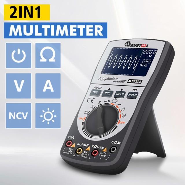 MUSTOOL MT8206 2in1インテリジェント デジタルオシロスコープ マルチメータ AC/DC 電流 電圧 抵抗 周波数 S81331666 LB3587 A271