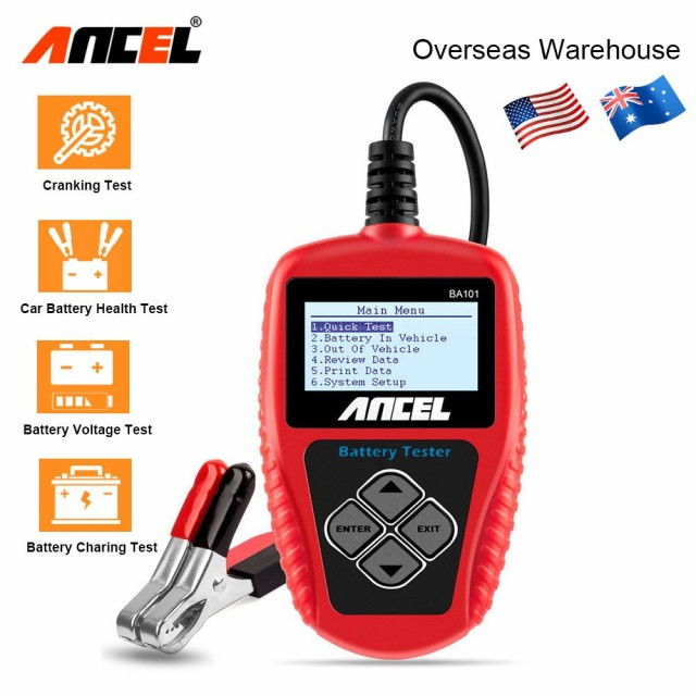 Ancel BA101 カーバッテリーテスター 12 V デジタルバッテリーテスターアナライザ 2000CCA