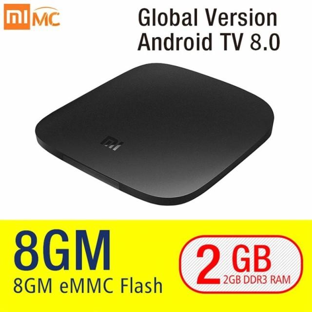Global Ver. Xiaomi Mi TV Box 3 Android 8.0 4K 8GB HD WiFi Bluetooth Multi-language Yout AT3808