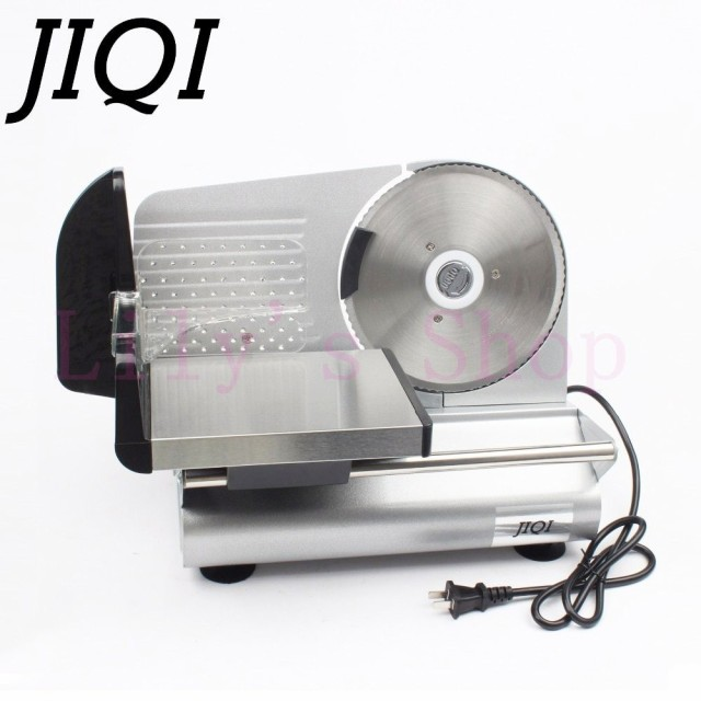 Jiqi電動ミートスライサーマトンロール冷凍牛肉カッター子羊野菜スライスマシンステンレス鋼グラインダー110ボルト220ボルトeu米国