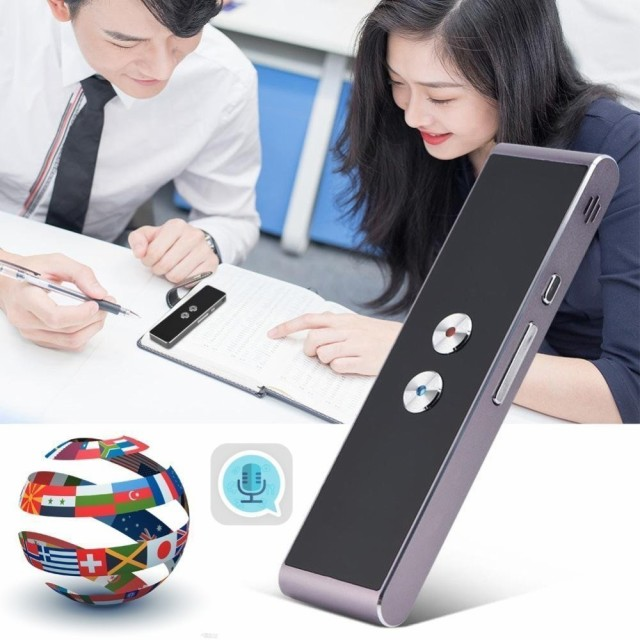 T8 ポータブル Voice Translator 41 Languages Two-Way Real Time Language Interpreter Bluetooth