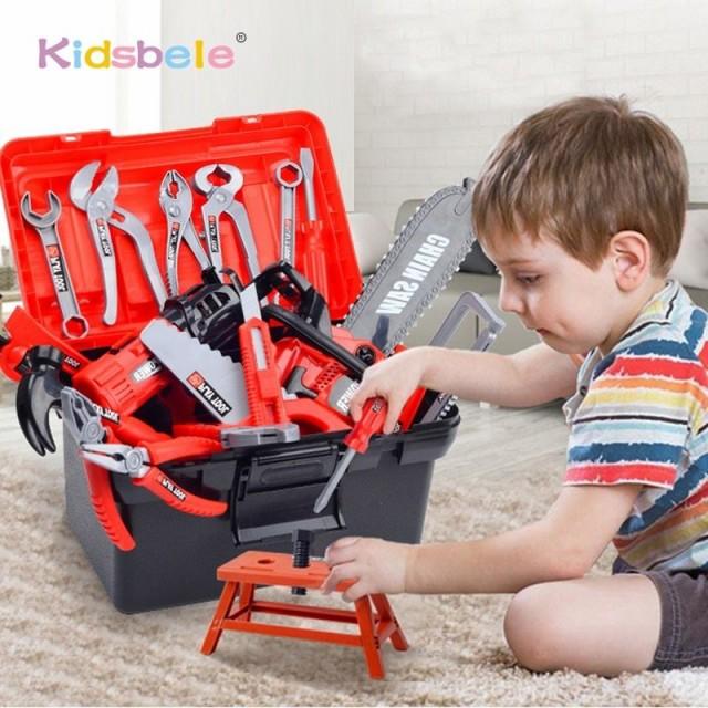 子供用工具セット/ツール/おもちゃ/玩具/BOX付き/キッズ用/大工さん/トンカチ/ペンチ/のこぎり/おままごと/プレゼント