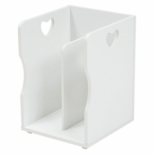 ブックスタンド お買い得 4点セット マガジンラック 書類 ファイル A4サイズ 本立て 仕切り 木製 スタッキング かわいい カントリー 白