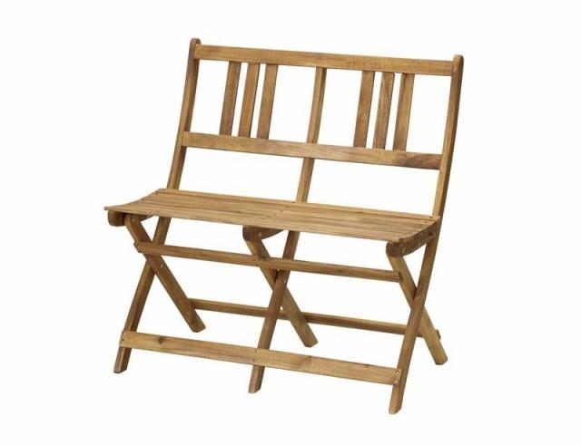ガーデンベンチ 折り畳み 折りたたみ収納 木製 おしゃれ 屋外 アカシア 天然木 ガーデンファニチャー Efica エフィカ ガーデンベンチ 2P