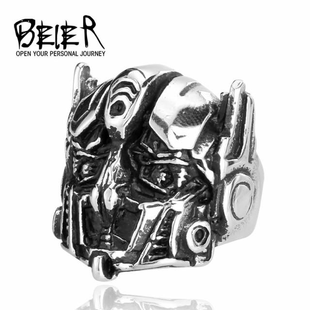 リング 指輪 メンズ ステンレス ユニークヘルムリング サージカルステンレス ヘルメット マスク 仮面 立体 ユニーク 個性的 ユニセックス