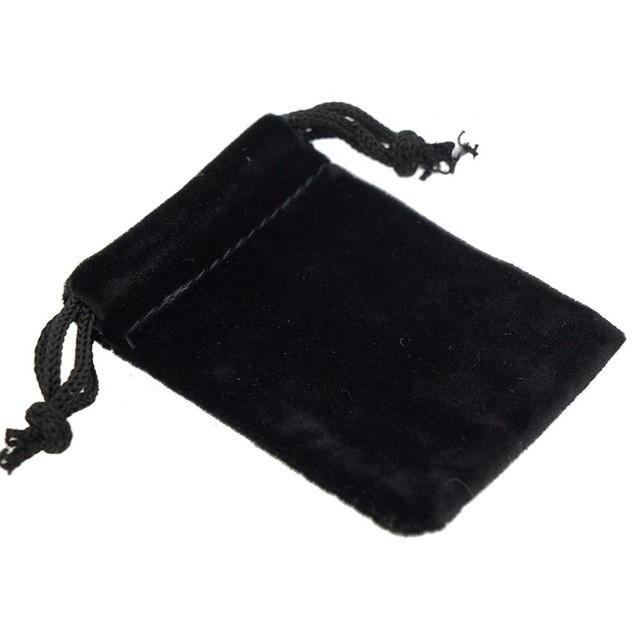 10枚入り ベルベット巾着袋 ブラック 巾着袋 アクセサリー バック ラッピング用品