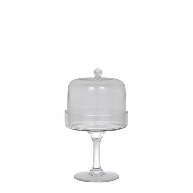 G815-1068S GLASS DOME S 送料無料 エレガントなガラスドーム ガラス 台所 デザート皿 洋食器 ケーキプレート ガラスコンポート 果物皿