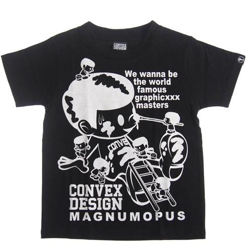 CONVEX コンベックス ペイントTシャツ クロ メール便OK 110cm/120cm/130cm/140cm/150cm/160cm 2020春夏 567254 子供服 半袖Tシャツ