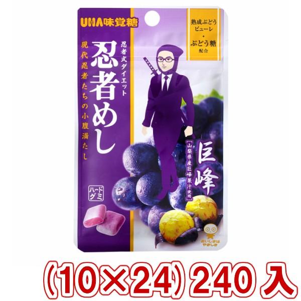 味覚糖 忍者めし 巨峰味 (10×24)240入 (Y12) (本州一部送料無料)