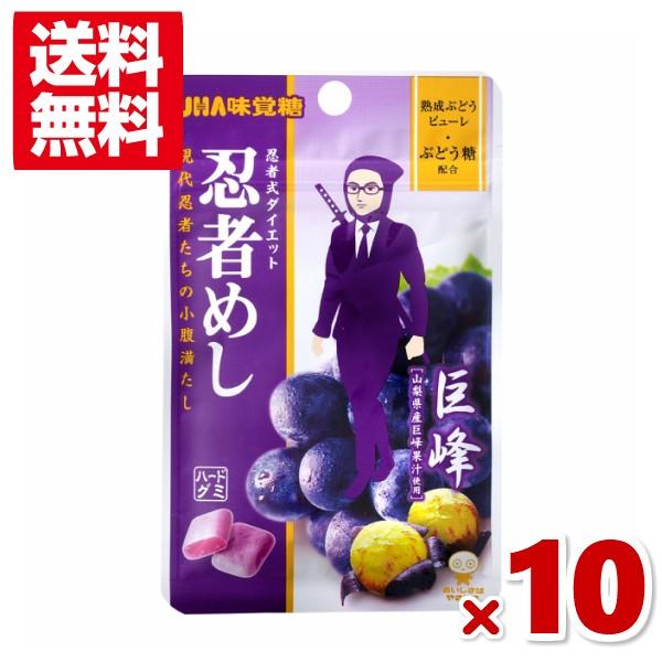 味覚糖 忍者めし 巨峰味 10入 (クリックポスト全国送料無料)