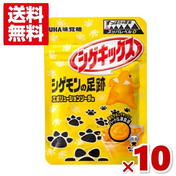 味覚糖 シゲキックス シゲモンの足跡 エボリューションソーダ 10入 (メール便全国送料無料)