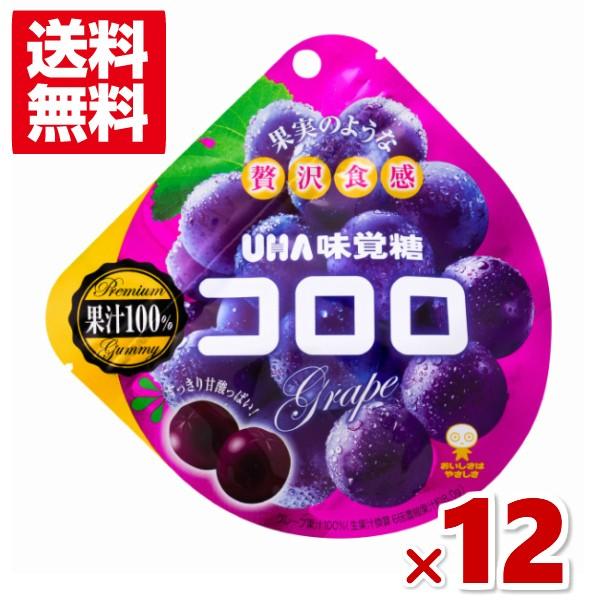 味覚糖 コロロ グレープ (6×2)12入(メール便全国送料無料)