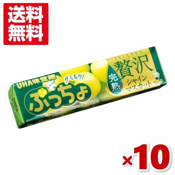 味覚糖 ぷっちょスティック 贅沢シャインマスカット 10入 (ポイント消化)(メール便全国送料無料)