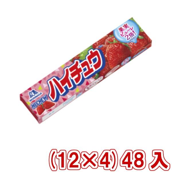 森永 ハイチュウ ストロベリー (12×4)48入 (本州一部送料無料)