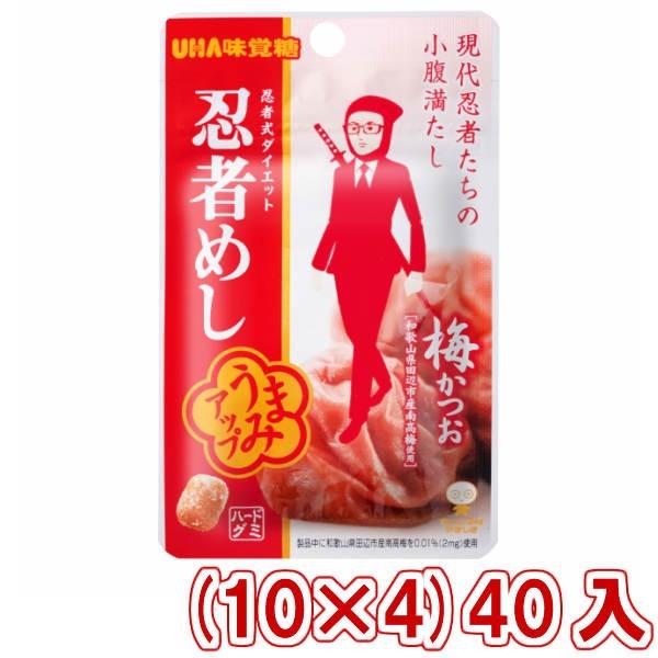 味覚糖 旨味シゲキックス 忍者めし 梅かつお味 (10×4)40入 (Y80) (本州一部送料無料)