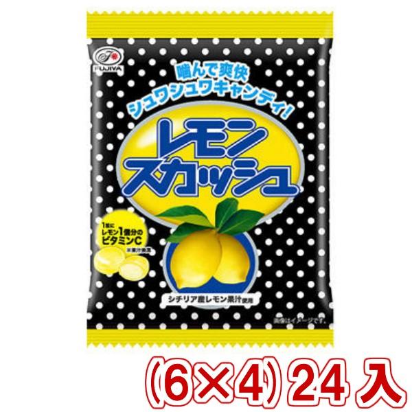 不二家 レモンスカッシュキャンディ 袋 (6×4)24入 (Y10) (本州一部送料無料)