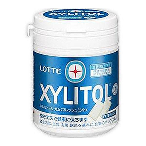ロッテ キシリトールガム フレッシュミント ファミリーボトル(6×2)12入 (本州一部送料無料)