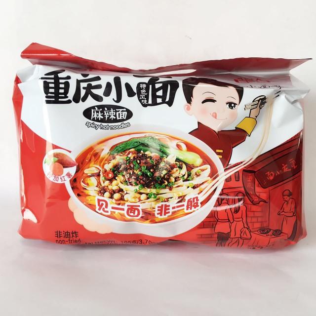 光友重慶小面(麻辣味)4食入 インスタント・スパイシーヌードル 方便面 激辛 四川風味440g