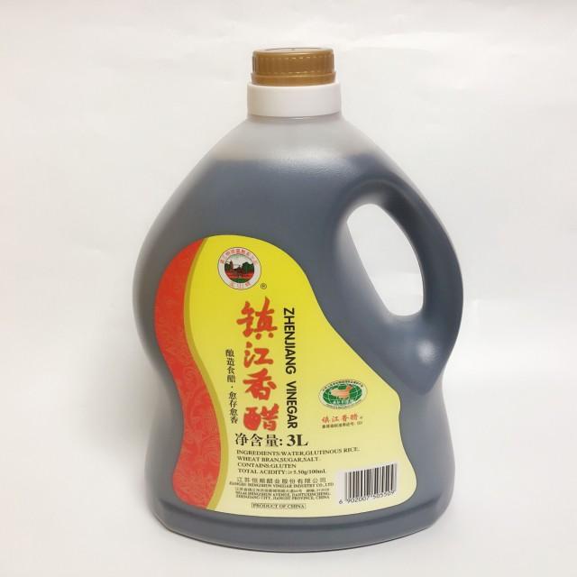 中国黒酢 (大瓶)恒順 鎮江香醋 3L 中華調味料 中華食材 ギョウザタレ中国酢 水餃子に欠かせない