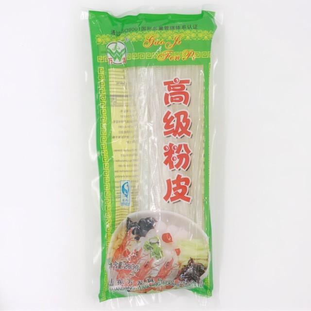 高級粉皮 中国タンミョン 平たい春雨 つるつる面 板春雨 フンピ フェンピー 200g もちもち ツルツル で食べ後耐えあり!鍋は欠かせない