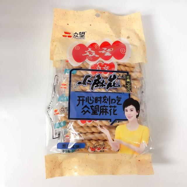 マホァ 麻花 ネギ塩味 マファール 中華お菓子200g