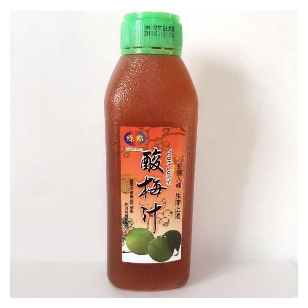 ウメジュース 酸梅汁ポリ瓶460ml 台湾産さんめいたん 冷凍商品と同梱不可
