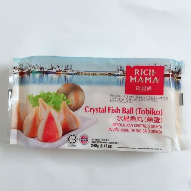 富媽媽 水晶魚丸(魚蛋)240g 魚団子 冷凍商品 火鍋料理におすすめ マレーシア産 ご注意:瓶の商品と同梱不可