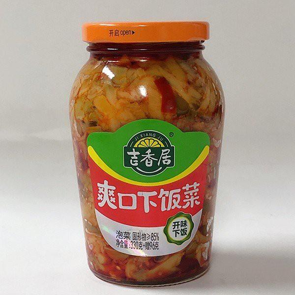 吉香居爽口下飯菜(瓶装) 426g 中国人気漬物 冷凍商品と同梱不可