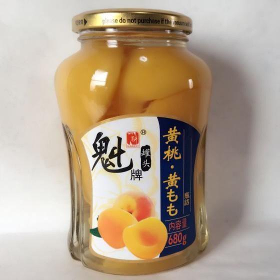 魁牌 黄桃罐頭 缶詰黄金桃 おうごんもも フルーツ缶 680g 中華食材 中国食品 冷凍商品と同梱不可
