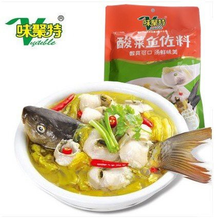 酸菜魚佐料 味聚特牌 酸菜魚の素 魚スープの素 中華食材 中華調味料 300g
