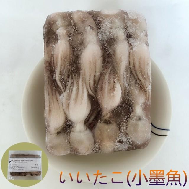 ホールいいたこ(小墨魚)  イイダコ 墨魚蛋 1000g 冷凍海鮮 インドネシア産