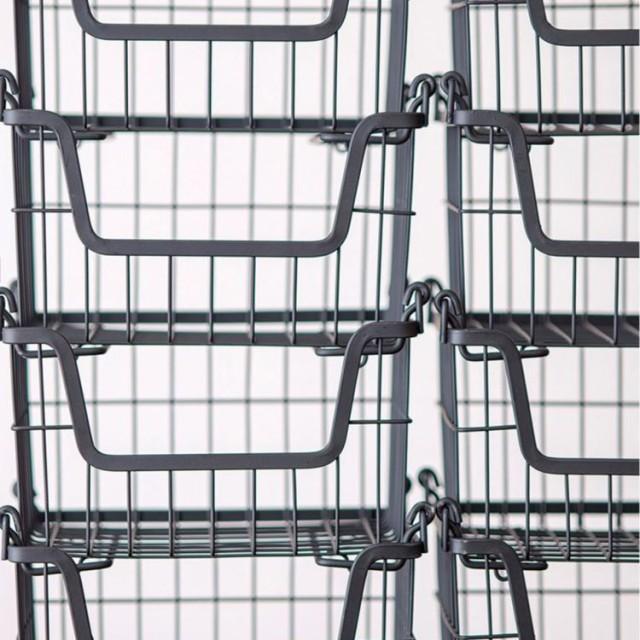 スタッキングバスケット スタッキング収納 収納 キッチン 台所 洗濯 クローゼット タオル収納 衣類収納 通気性 収納カゴ ストック収納 イ
