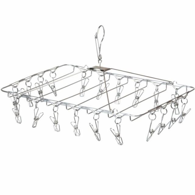ピンチハンガー 20ピンチ 20ケ 角型 長方形 ステンレスハンガー 洗濯ばさみ 洗濯バサミ ステンレススチール シルバー 物干し ランドリー