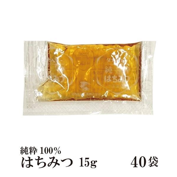 純粋はちみつ 15g×40袋 メール便 送料無料 ハニー 無添加 小袋 パン ヨーグルト 使い切り 小分け こわけや