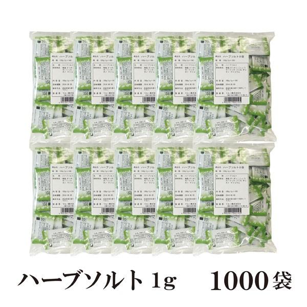 ハーブソルト 1g×1000袋 宅配便 送料無料 小袋 使いきり 調味料 塩 ソルト ハーブ スパイス チキングリル ポトフ 卵料理 お弁当 イベ