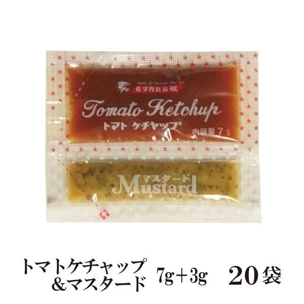 トマトケチャップ&マスタード 10g×20 メール便 送料無料 小袋 使いきり 調味料 携帯用 アウトドア お弁当 イベント 和食 洋食 中華 肉