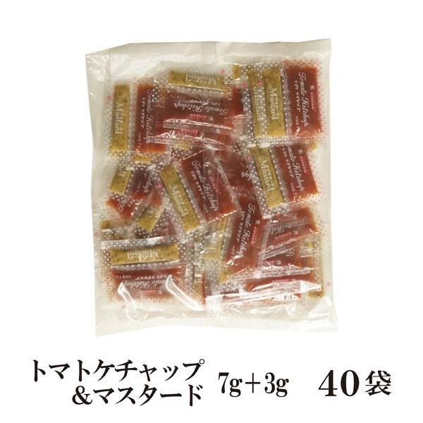 トマトケチャップ&マスタード 10g×40 メール便 送料無料 小袋 使いきり 調味料 携帯用 アウトドア お弁当 イベント 和食 洋食 中華 肉